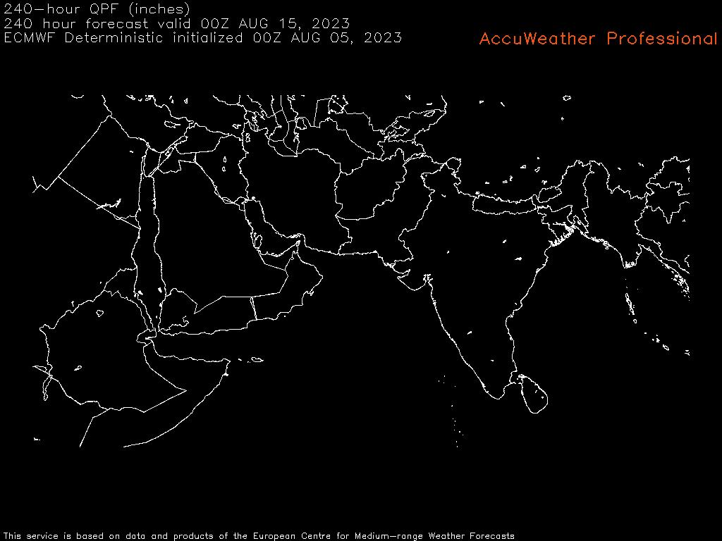 موقع ابو سعد للطقس / توقعات الامطار من الاوروبي